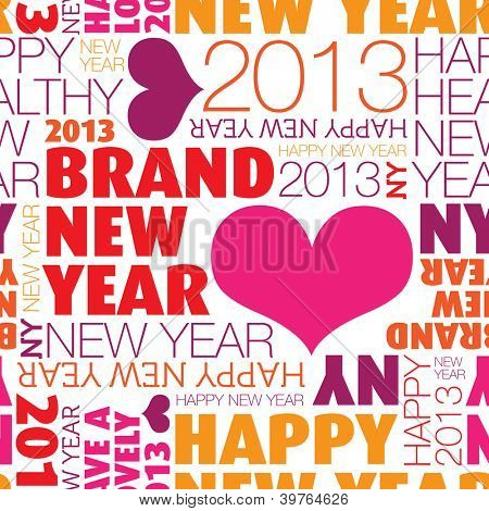 Seamless happy new year 2013 background pattern in vector