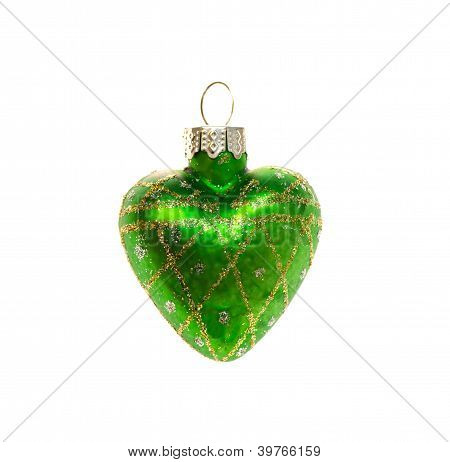 Christmas Toy Green Heart.