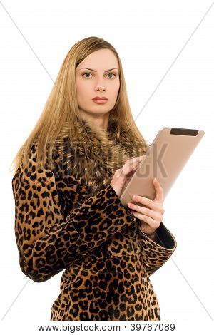 Blonde Keeps The Tablet Pc