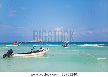 Boats in the sea