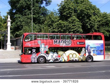 Tourist bus in Madrid, Spain