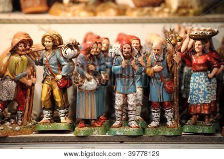 Handmade statues for crib