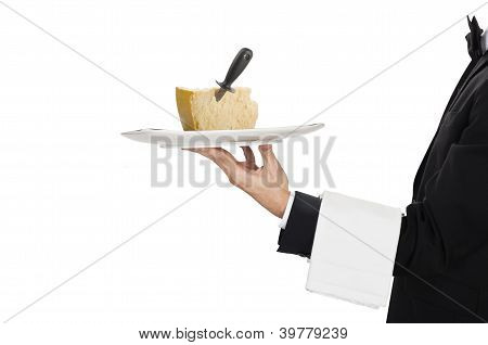 waiter with cheese