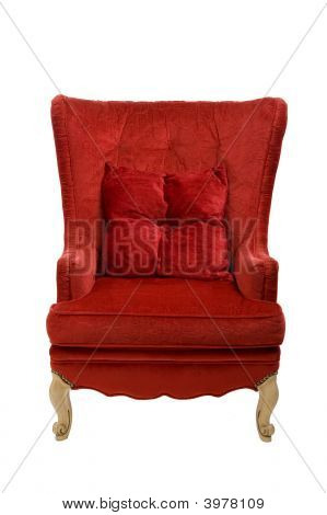 A Red Chair With Clipping Path