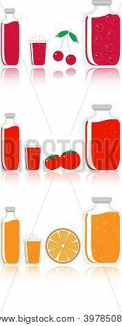 Cherry, Tomato And Orange Juice