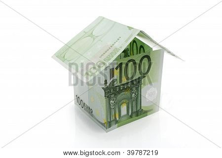 Hundred Euros Banknotes House