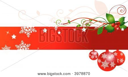 Christmas Background On White Vector