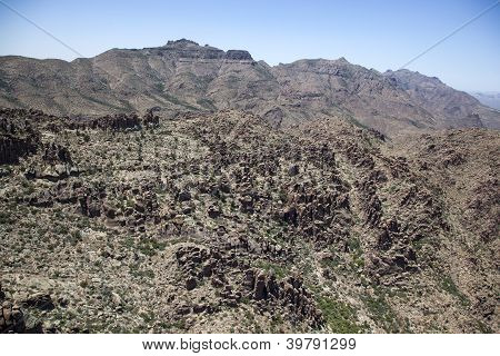 Rugged Terrain Of The Superstition Mountains