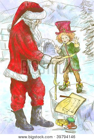 Santa Claus - tailor from the snow fairy