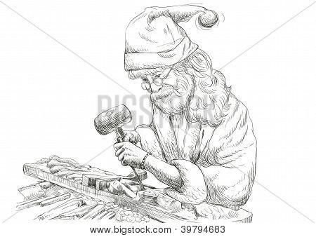 Santa wood-carver