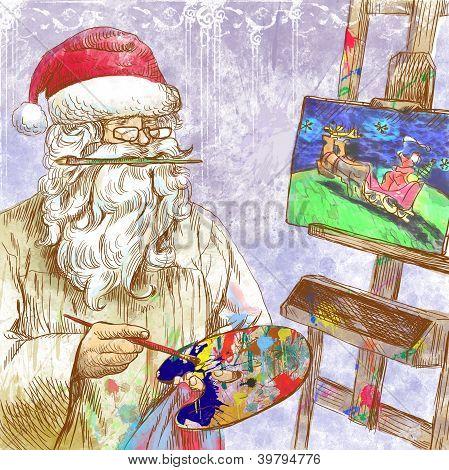 Santa Claus - painter