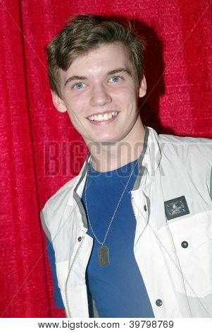 UNIVERSAL CITY - DEC. 4: Grayson Hunter Goss arrives at publicist Mike Arnoldi's birthday celebration & Britticares Toy Drive for Children's Hospital on Dec. 4, 2012 in Universal City, CA.
