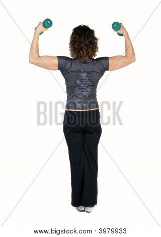 Fitness Instructor Lifitng Dumbbells