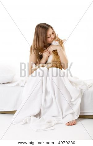 In Bed With A Cat