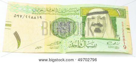 One SAR a currency of Saudi Arabia