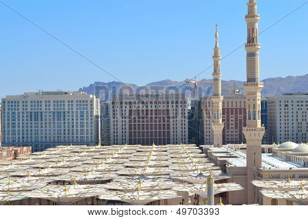 minarets and umbrellas