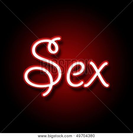 Sex in Red Black Background
