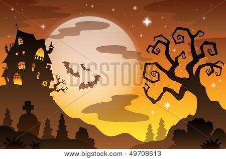 Fundo de tema Halloween 2 - ilustração do vetor de eps10.