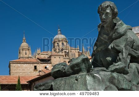 Saint John Of The Cross And Salamanca Cathedral