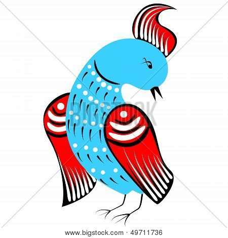 Bird In Traditional Russian Style