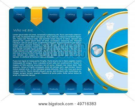Cool Blue Web Template