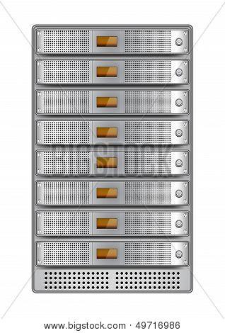 Server Rack Installed