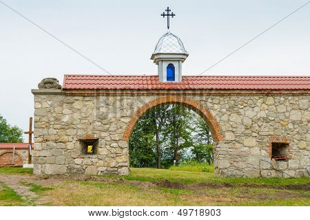 Pidkamin (Podkamien), Ukraine - ruins of a Dominican monastery, now Ukrainian Greek Catholic Studite Brethren church