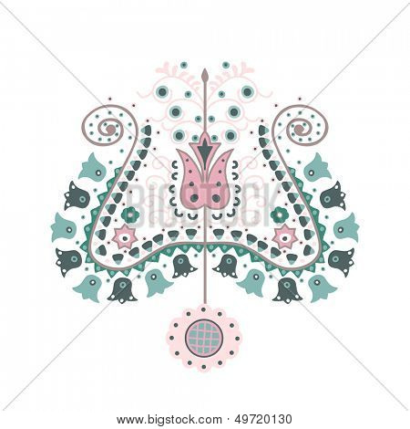 ethno tulip motif