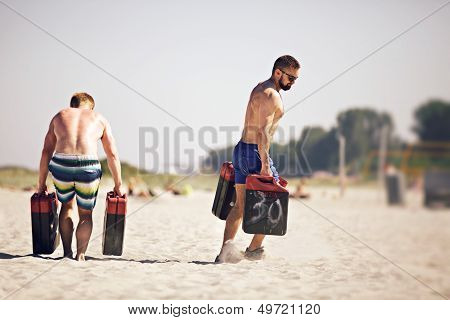 Athletes With Jerrycans