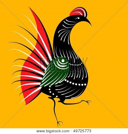Cockerel In The Russian Traditional Style