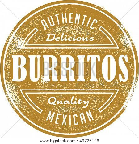 Authentic Mexican Food Burrito Design