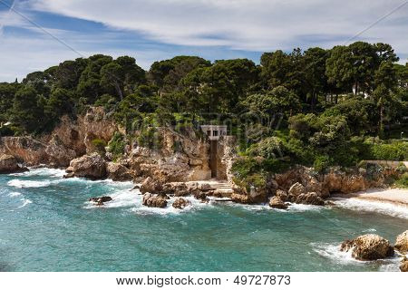 Rocks On The Coastline Of Cap D'antibes