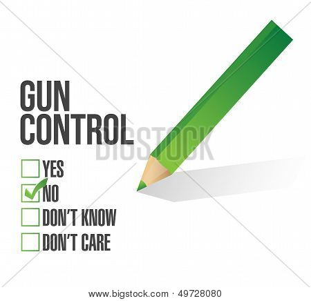 Gun Control Survey Concept Illustration Design