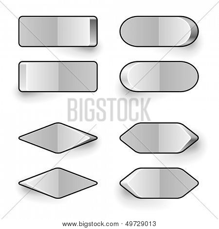 Blank white toggle switch vector template.