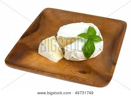 Camembert Cheese And Fresh Basilic