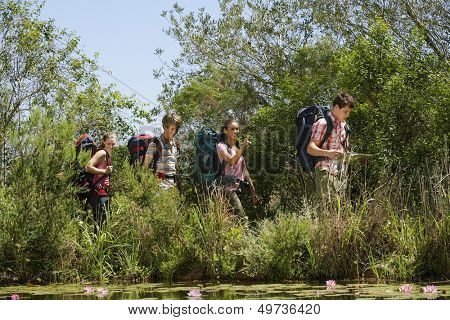Young Friends Hiking