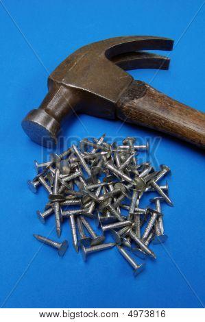 Hammer Nails Blue