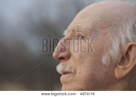 Senior Man In Profile