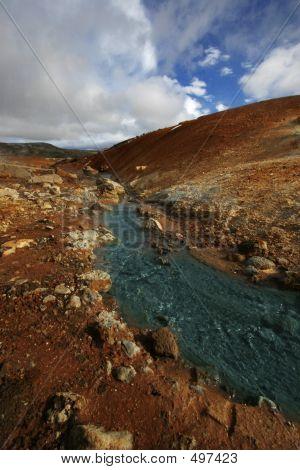 Hot Geothermal River