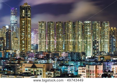 Kowloon downtown in Hong Kong