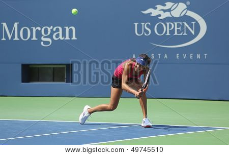 rand Slam champion Ana Ivanovich practices for US Open 2013 at Arthur Ashe  Stadium