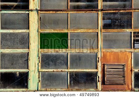 Windows Of An Old Abandoned Factory
