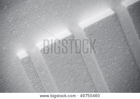 Abstract White Polystyrene Structure Background