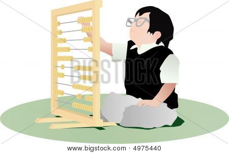 Accountant Child With Abacus