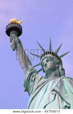 The Statue of Liberty on Liberty Island in New York City