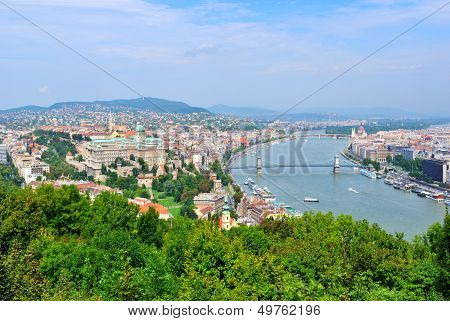 Top-view Of Budapest, Hungary