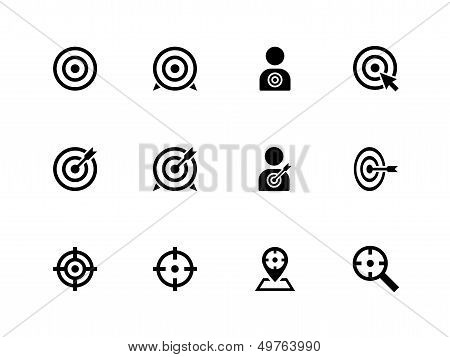 Target icons on white background.