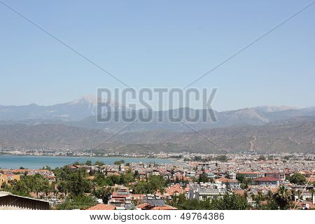A scenic view of Fethiye in Turkey
