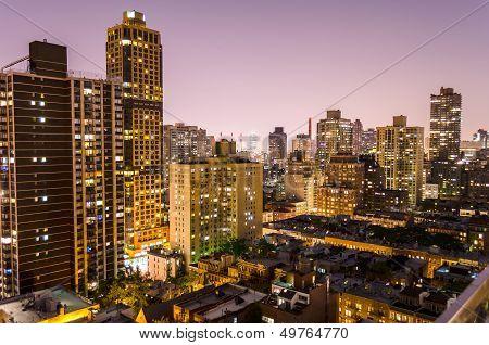 New York City Aerial Night View