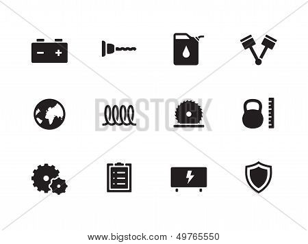 Tools icons on white background.